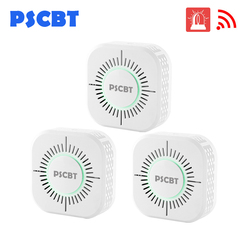 PSCBT proteção do sensor de 433 MHz Sem Fio Detector de Fumaça alarme de fumo de incêndio para casa sistema de alarme de segurança do armazém 3 pçs/lote