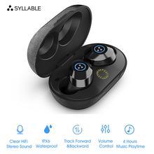 2019 Новый слог S105 TWS Bluetooth наушники истинные беспроводные стерео вкладыши Водонепроницаемая bluetooth-гарнитура слог S105 для телефона