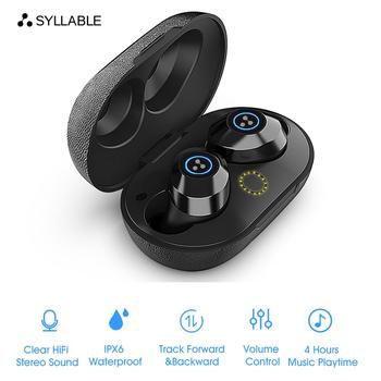 2020 New SYLLABLE S105 TWS Bluetooth Earphone True Wireless Stereo Earbud Waterproof Bluetooth Headset Syllable S105 for Phone фото