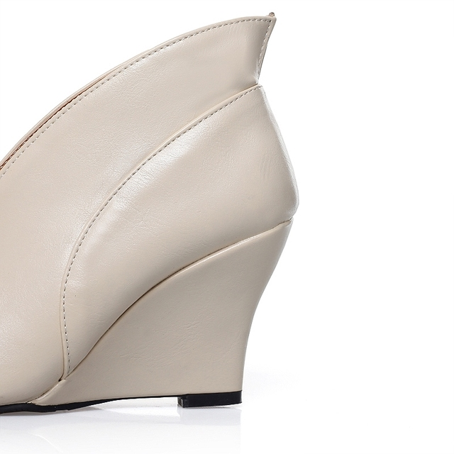 EGONERY shoes 2016 new Women's Sexy High Heels Peep Toe Pumps Fashion Wedges Shoes Woman Spring Autumn Pumps Women shoes