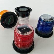 6 цветов светодиодный водонепроницаемый Предупреждение ющий светильник на солнечной батарее, потолочный стробоскопический светильник с сильным магнитным движением и дорожным маяком, светильник