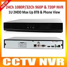 Видеонаблюдения 24Ch NVR 1080 P или 32Ch 960 P или 16Ch мегапиксельный или 8Ch 5MP безопасности видеонаблюдения NVR поддержка Onvif IP камера макс 8 ТБ P2P вид