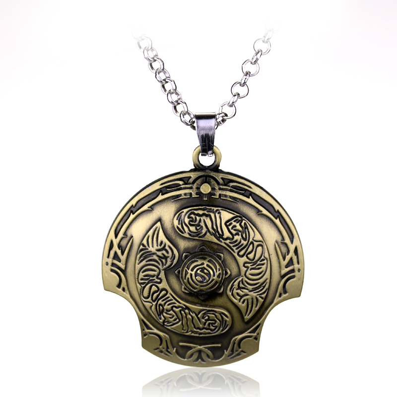 New Fashion Online Game Jewelry New Dota 2 Immortal Champion Shield Necklace Shield Pendant Necklace Game Jewelry