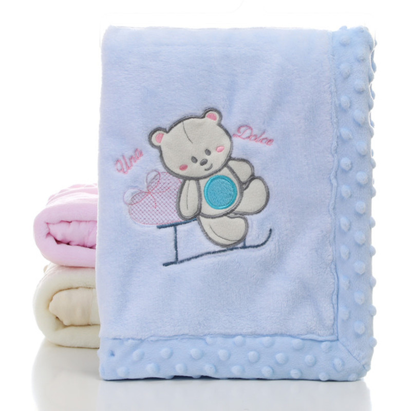Baby Blanket Newborn Cute Cartoon Blankets Autumn Soft Newborn Stroller Bedding Cover Blankets Winter Warm Child Throwing Quilts