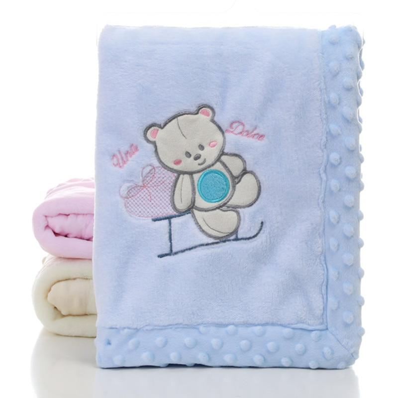 Baby Blanket Newborn Cute Cartoon Blankets Autumn Soft Newborn Stroller Bedding Cover Blankets Winter Warm Child Throwing Quilts