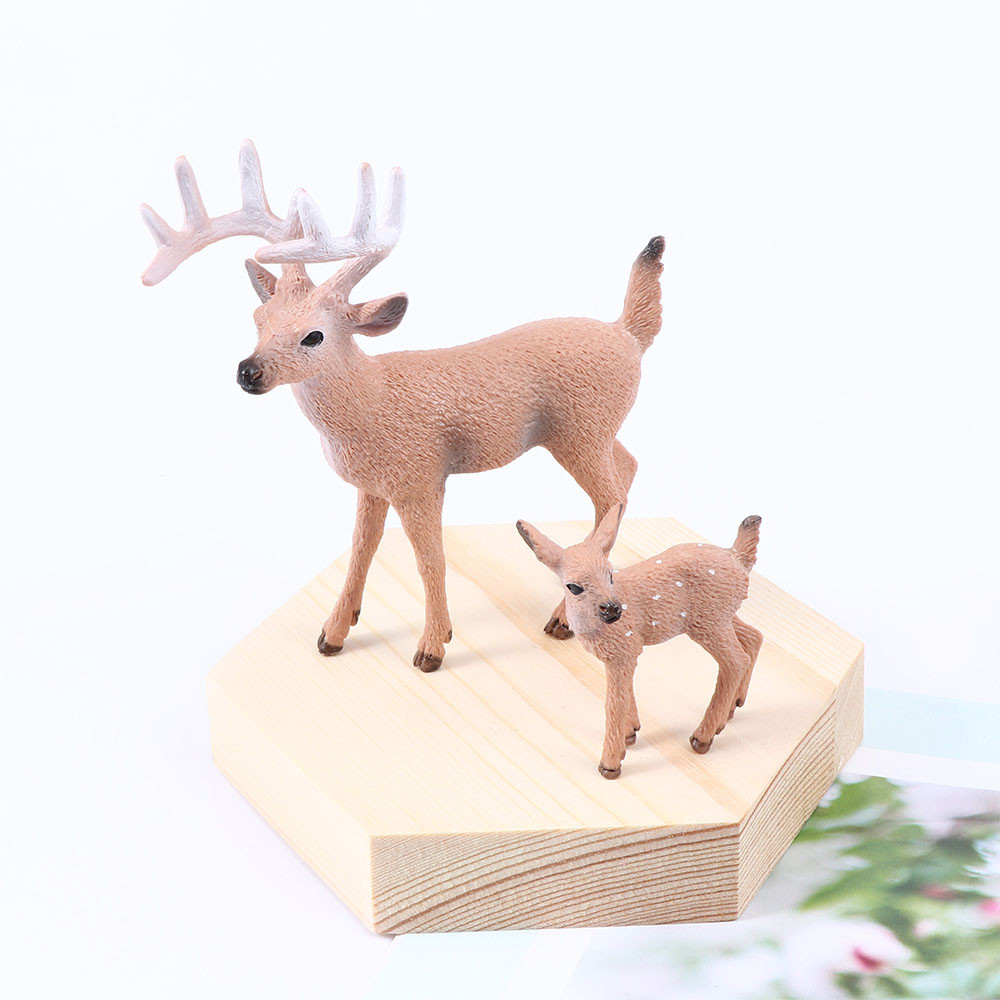 Brown Deer Figure Christmas Doll White-tailed Reindeer Home Party Xmas Decor