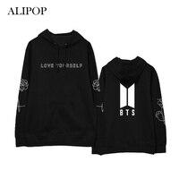 ALIPOP Kpop BTS Love Yourself Birthday Album Hoodie Cotton Hoodies With Hat Pullover Printed Long Sleeve