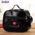 Alta Calidad Cremallera Bolsa de Cosméticos Bolsa de Maquillaje Bolsos Femeninos de Charol Señora Casos Cosméticos Organizador Del Viaje Bolsa de Viaje C2122