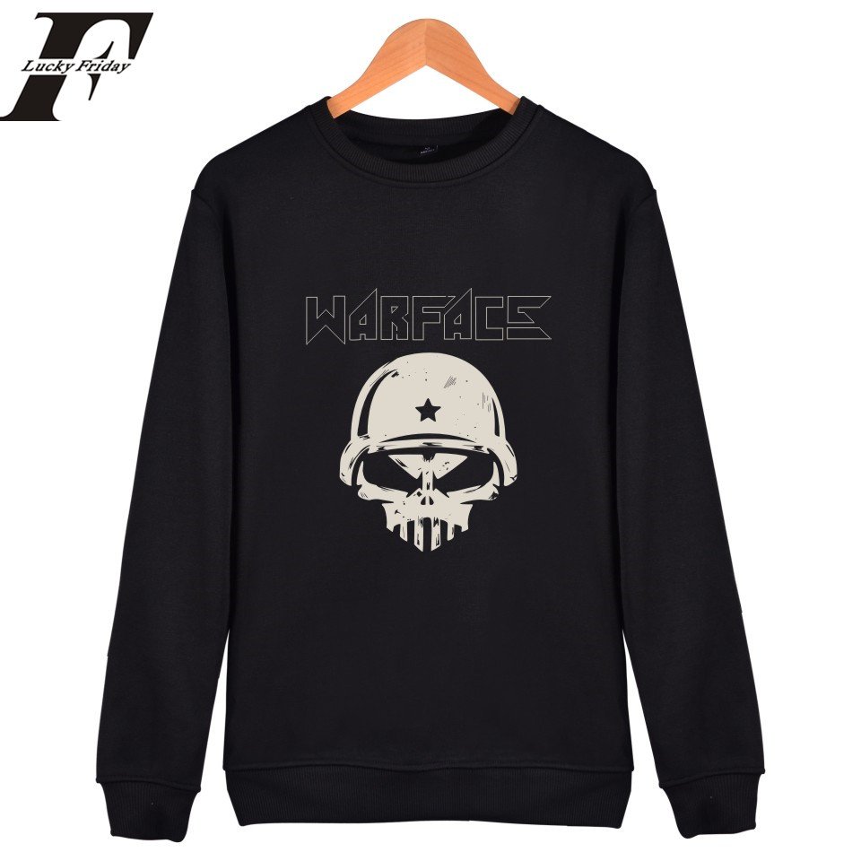 LUCKYFRIDAY Warface Sweatshirts for Man 2017 printed  causal autumn hoodies and sweatshirts for Men moleton masculino clothing
