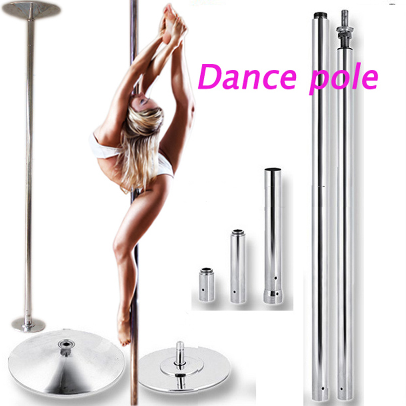 Stripper pole dance 360 Spin Professional Dance Pole Removable training pole X POLE Kit EASY Installation fedex ups FreeShipping agility gear fixed weave pole kit 6 pole kit use with 3 4 pvc