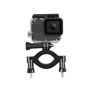 Image 4 - SHOOT rower motocykl kierownica uchwyt zacisku statyw do GoPro 9 8 7 5 czarny Xiaomi Yi 4K Sjcam Eken Go Pro akcesoria