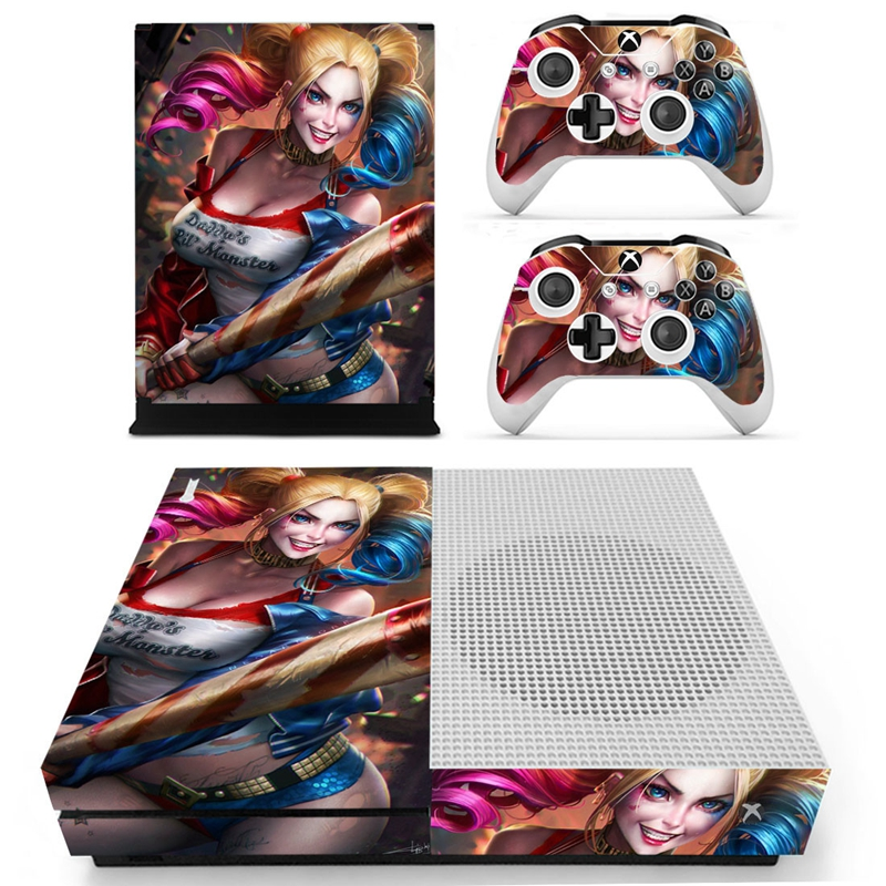 Homereally for xbox one s skin harley quinn suicide squad custom sticker cover for xbox one slim console and controller sticker in stickers from consumer