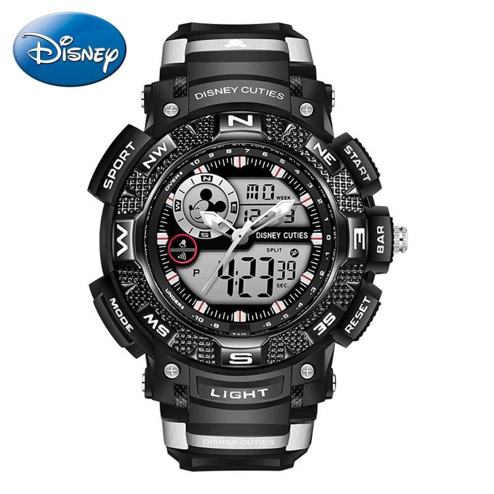 9f3b0ae4d Reloj LED de goma impermeable multifuncional de deporte para hombre de Disney  relojes de marca superior
