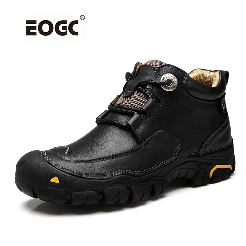 Модные Мужские Ботинки Ботильоны из натуральной кожи, ручной работы два Стиль осень рабочая обувь Для мужчин