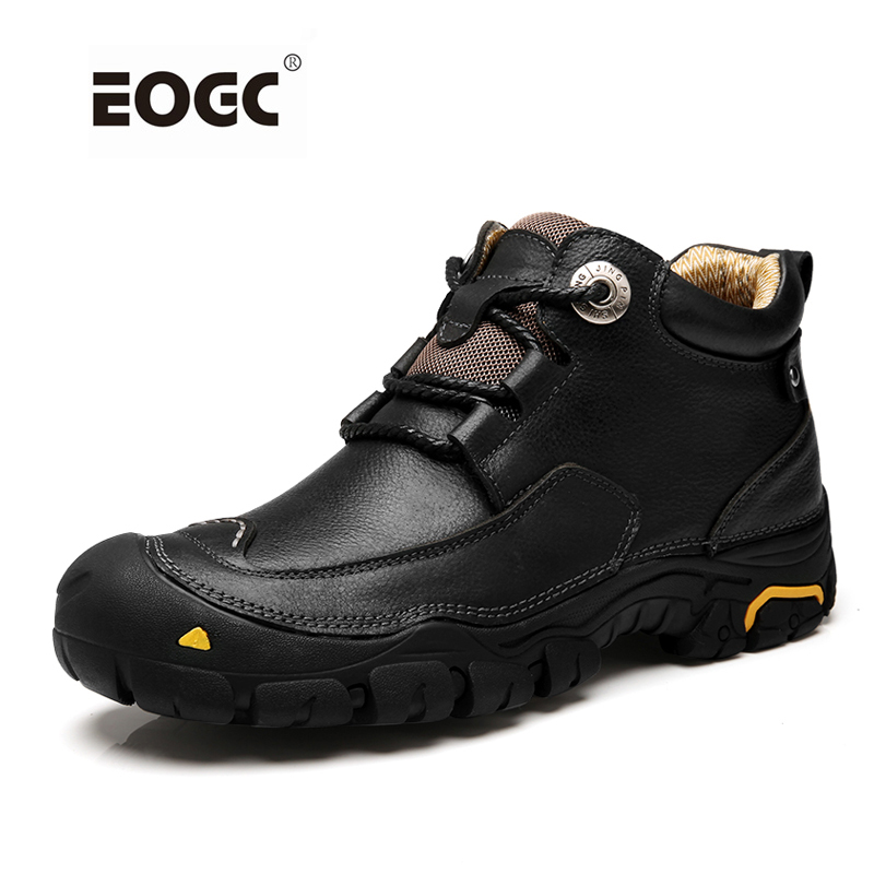 Модные мужские ботинки ручной работы, ботильоны из натуральной кожи, два стиля, осенняя рабочая обувь для мужчин, Прямая поставка