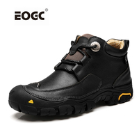 Fashion Men Boots Handmade Genuine Leather Ankle Boots Two Style Autumn Working Shoes Men
