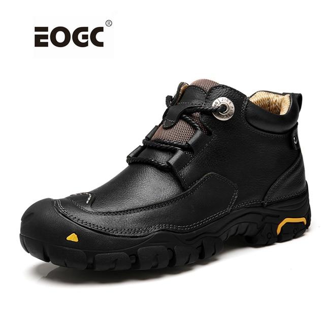 Moda Erkekler Çizmeler El Yapımı Hakiki Deri yarım çizmeler Iki Stil Sonbahar iş ayakkabısı Erkekler Dropshipping