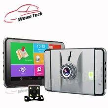 7 pulgadas Del Coche DVR GPS de Navegación para Android 1080 P DVR Grabador de 512 Mb 8 Gb Mapas Camión Vehículo Navegador Gps Con Cámara de Visión Trasera Libre