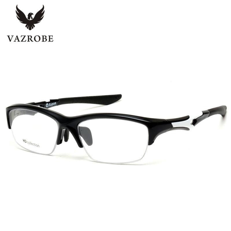 Vazrobe Half Frame TR90 Glasses Men Women Sport Style Eyeglasses Frames with Clear myopia -1.0 -1.5 -2.0 -2.5 Customized Lens