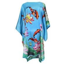 66842796448300 NIEUWE Groene Pauw Chinese Vrouwen Badjas Nachtjapon Plus Size 6XL Rayon  Night Dress Nachtkleding Sexy Robe Kaftan Gown Neglige