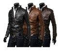 Roupa outono homens maré masculino han edição homens lavado PU jaqueta de couro