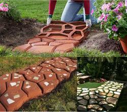 43*43 concrete DIY Stone plastic mold pathways paving concrete molds