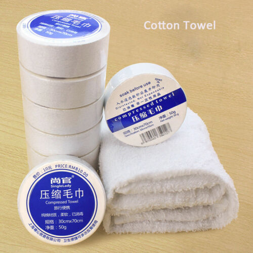 Compressed Towel Hot Casual Mini Cotton Bath Face Washcloth Travel Reusable Two Size