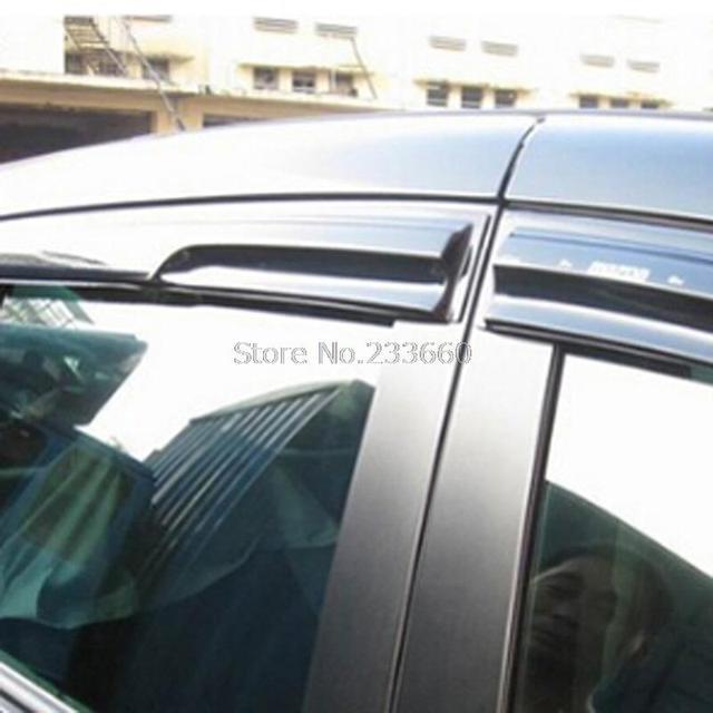 Пригодный для Hyundai Нью Санта-Фе 2013 2014 2015 Окно Дефлектор Visor Vent Оттенки Солнце Дождь Гвардии автоаксессуары Навесы приюты