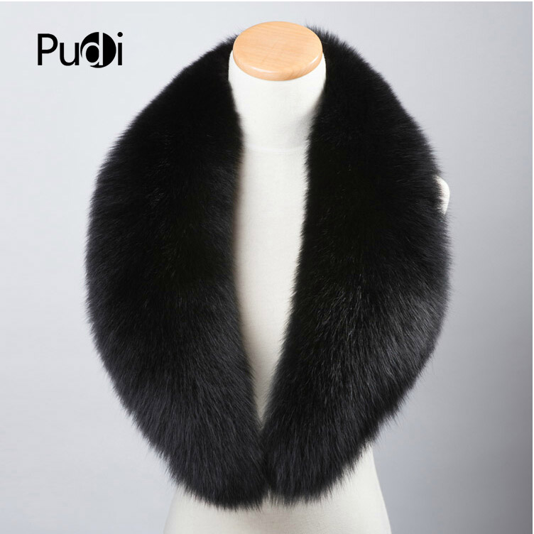 SF606 Genuine Winter Women Fox Fur   Scarf     Scarves     Wrap   Neck Warmer Shawl Collar fur collar rings