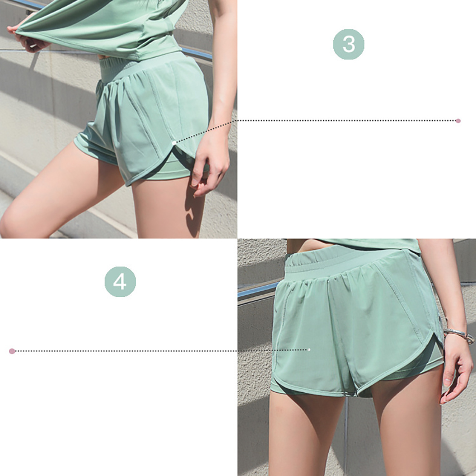 Women's Mesh Yoga Sets Running Tracksuit Fitness Clothing Sportswear Short Sleeve Tops Gym Shorts Breathable Quick Dry Clothes 20