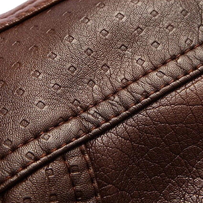 Veste en cuir de peau de montagne hommes manteaux 5XL marque haute qualité PU vêtements d'extérieur hommes d'affaires hiver fausse fourrure mâle veste polaire EDA113 - 6