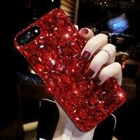 아이폰 7 7 플러스 3D 레드 다이아몬드 모조 다이아몬드 전화