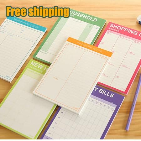 Online Shop Cute Kawaii Weekly Monthly Work Planner Book Diary