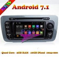 Topnavi 2 г + 16 ГБ Android 7.1 автомобилей медиа центр DVD плеер для сиденья IBIZA 2009 2013 стерео GPS Навигация Авто Радио 2din MP3 Wi Fi
