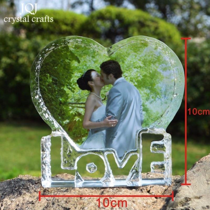 Personalizada amor en forma de corazón de cristal Photo Album fotos ...