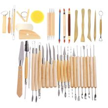 Hot Sale 42Pcs Modeling Clay Pottery Sculpting Tools Carving Tool Set Carver Craft DIY
