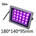 Водонепроницаемая светодиодная ультрафиолетовая лампа 60 Вт Ультрафиолетовый уход металлоискатель под нулевым кварцем черный фонарик сте...