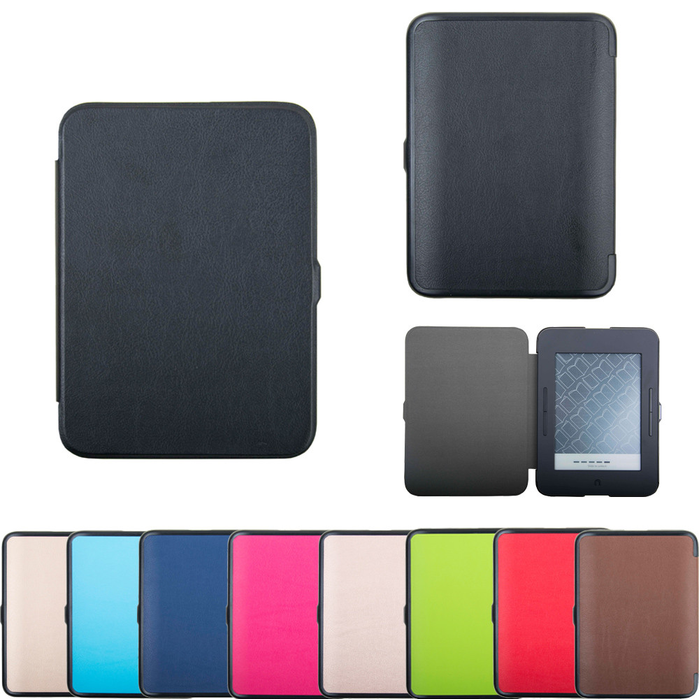 For Barnes & Noble Nook GlowLight 3 eReader 2017 BNRV520 Slim Case Leather Cover Slim Case Leather Cover For Barnes M.13 ...