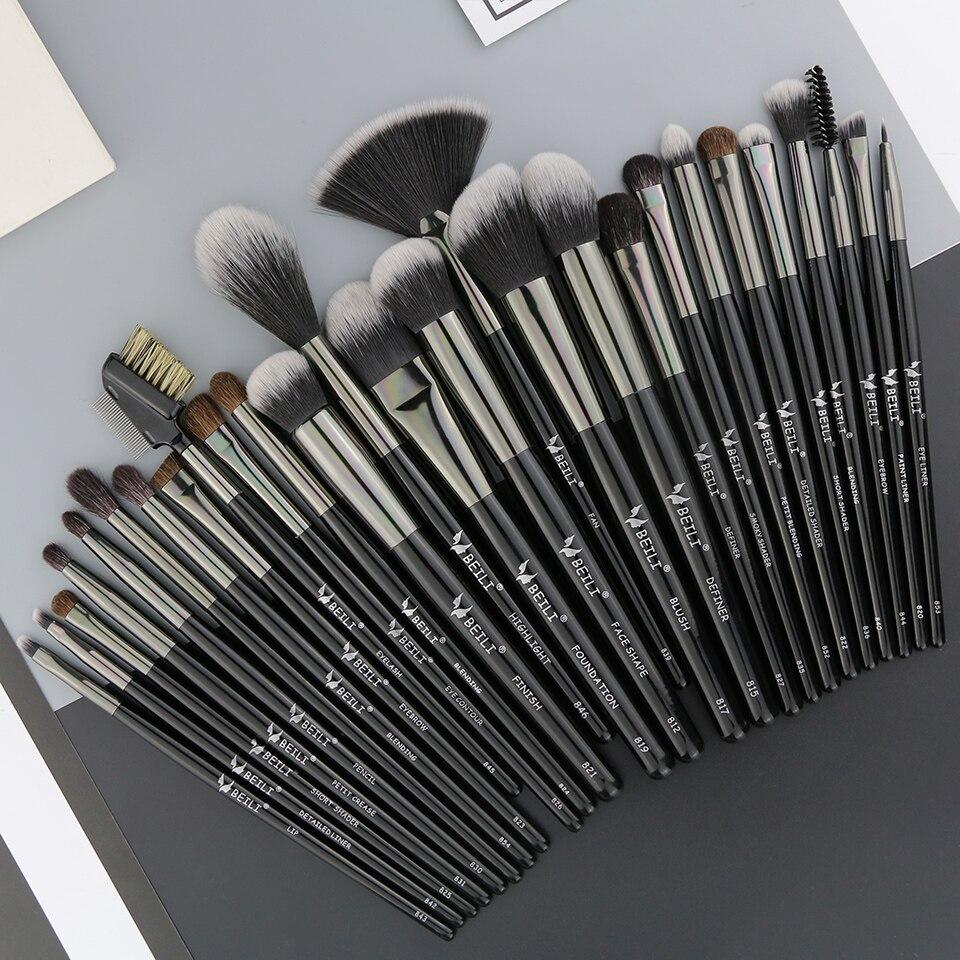 Оптовая Продажа Pro 24 шт макияж кисти набор Красота Косметика, Смешивание Тени для век губ BB крем порошок Pincel Maquiagem сумка для инструмента - 4