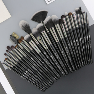 Image 4 - Beili 黒プロ 40 個のメイクブラシセットソフトナチュラル毛粉末ブレンド眉毛ファンファンデーションブラシ