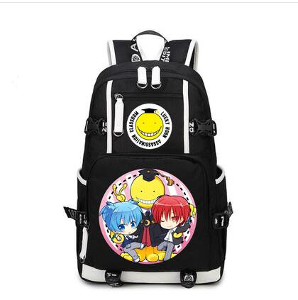 Japanese preppy style  Assassination Classroom Ansatsu Kyoushitsu Backpack Korosensei  cosplay  School unisex Bags BackpacksJapanese preppy style  Assassination Classroom Ansatsu Kyoushitsu Backpack Korosensei  cosplay  School unisex Bags Backpacks