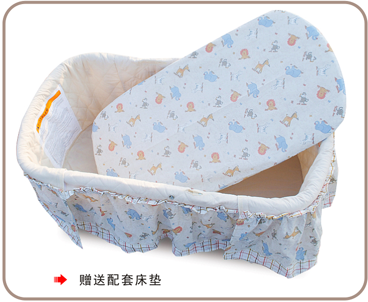 2016 Real Sale Baby Crib Baby Crib, Electric, Rocker, Plus Mosquito Net, Swing Bed, Cradle, Certificated Ce Multifunctional Bed baby cradle bed hammock baby swing 0 12 iron beds with wheels mosquito net cyet6