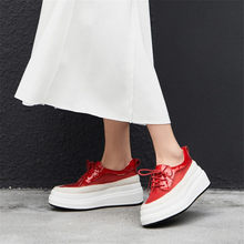 Women Creeper Shoes Cow Leather High Heel Evening Pumps Wedges Platform Breathable Lace Summer Tennis Punk Sandals