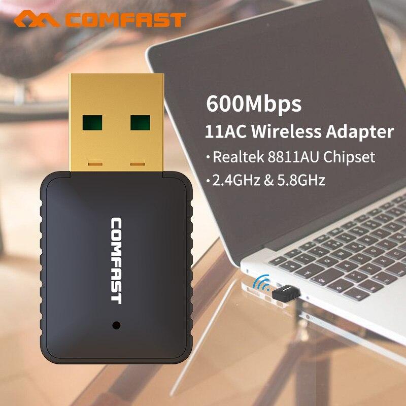 Netzwerk Karten Rtl8811au 600 Mbps Wifi Adapter Usb Lan Karte 5,8 Ghz Wi-fi Adapter Pc Usb Wifi Empfänger 802.11ac Wifi Dongle Stecker Drahtlose Adapte