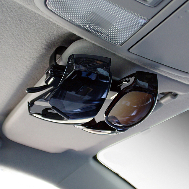 Car Visor Spectacles Sunglass Eye Glasses Ticket Receipt Card Holder Storage Clip Stand Shelves Mount Car styling accessories