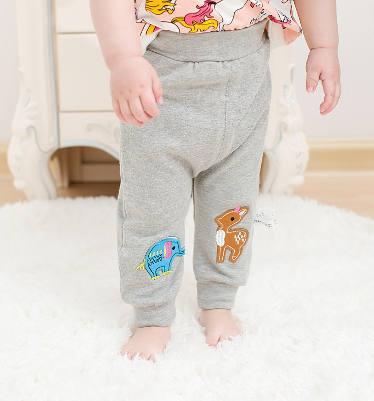 Casual Toddler Trousers Baby Bottoms Pants Infant Boys Girls Cartoon Cute elephant deer sports Pants baby clothes drop shipping (19)