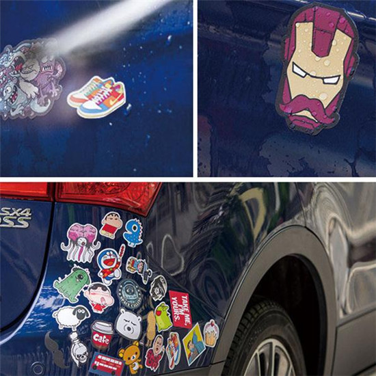 50pcs lot avengers x men origins wolverine sticker car body stickers diy motorcycle decal bicycle vinyl laptop stickers ap026 in decals stickers from