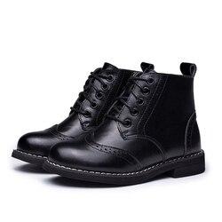 2019 niños botas niños nieve zapatos impermeables niños botas de cuero genuino niño Botas niñas Martin zapatos calientes zapatos deportivos