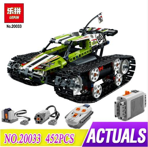 Compatible Legoe Technic 42065 Lepin 20033 397pcs RC Track Remote-control Race Car building blocks Bricks toys for children