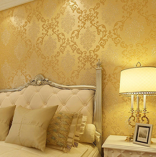 Italian Style Modern 3D Embossed Background Wallpaper For